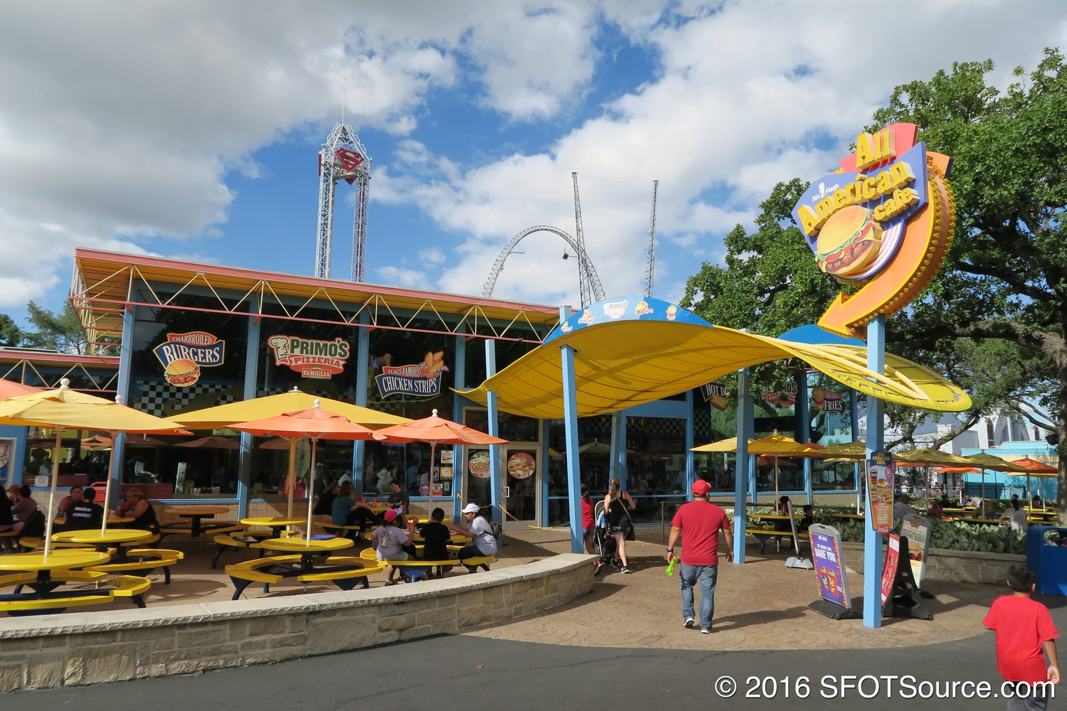 All American Cafe is located in the park's USA section.