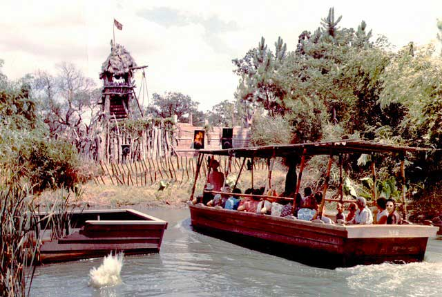 A scene from LaSalle's River Boat Expedition. Credit: Six Flags Archives