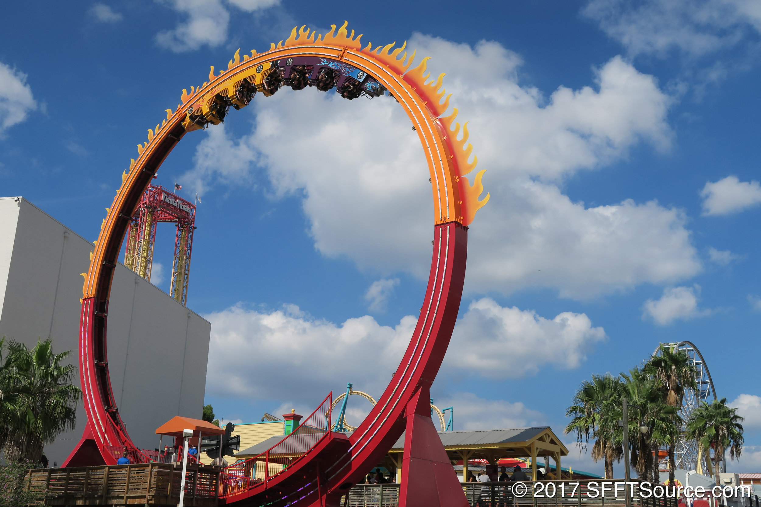 Lone Star Revolution will be much like Six Flags Fiesta Texas' Fireball attraction shown above.