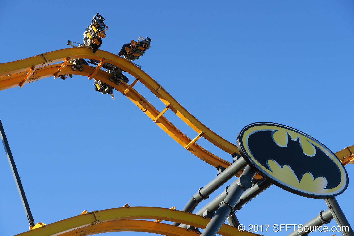 Batman: The Ride    at Six Flags Fiesta Texas.