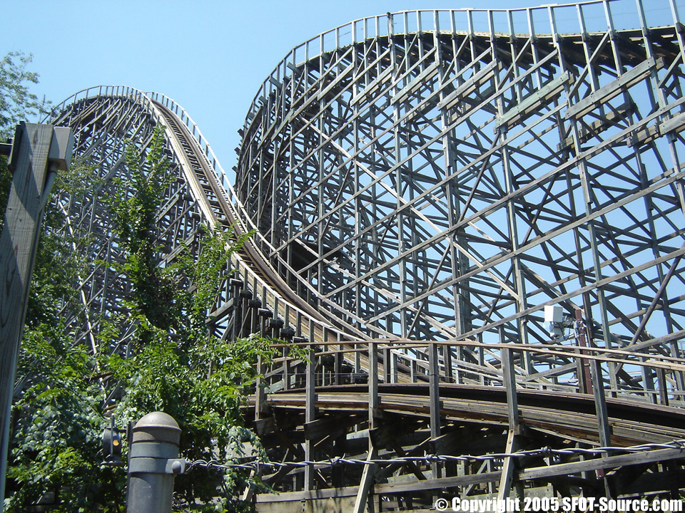 The first drop of The Texas Giant was 137 feet tall.