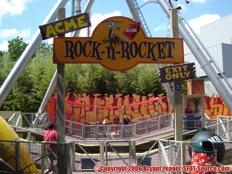 The main focal point of ACME Rock-n-Rocket was actually the ride's exit.