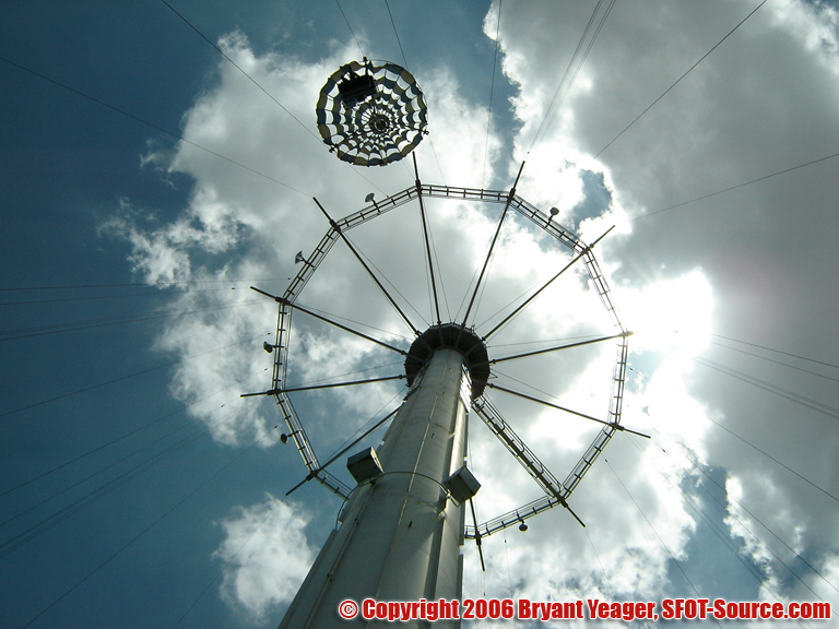 Riders reached heights of 170 feet during the ride.