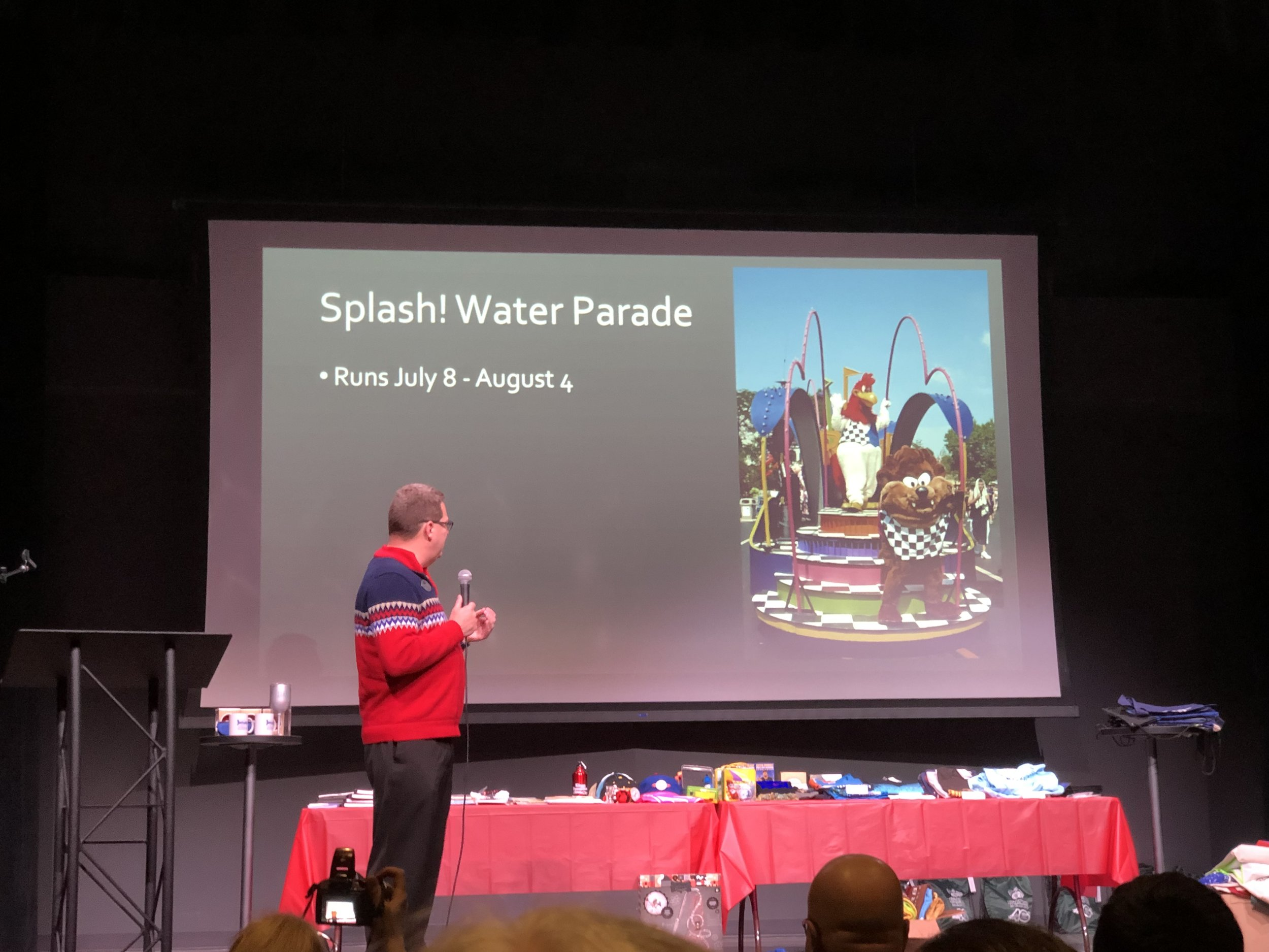 The park discussing their new Splash! Water Parade concept coming this summer.