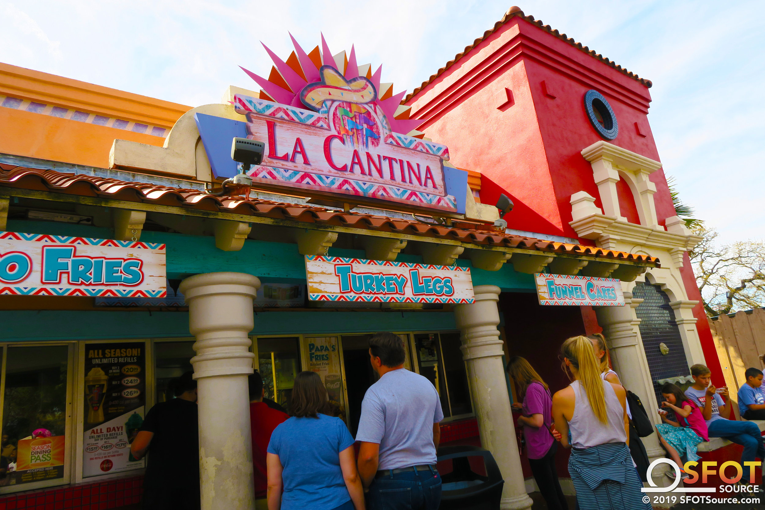 La Cantina is located in the park's Mexico section.