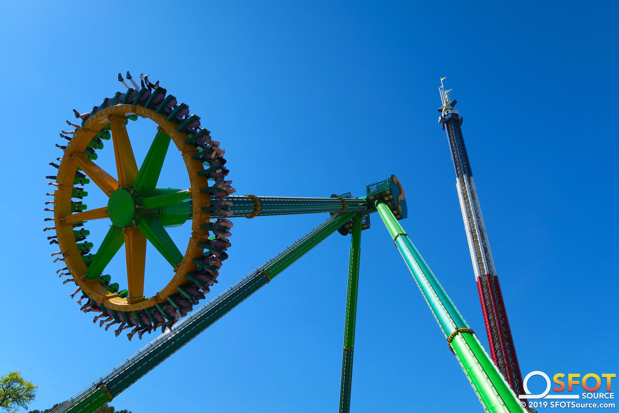 The Riddler Revenge stands at 147 feet tall.