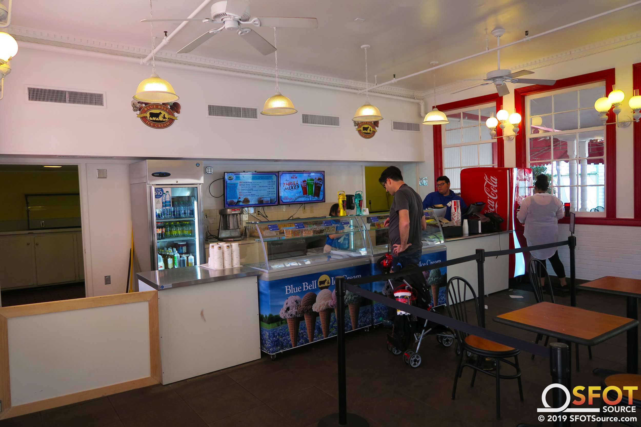 This dining location features ice cream and a Coca-Cola Freestyle for season drink bottle refills.