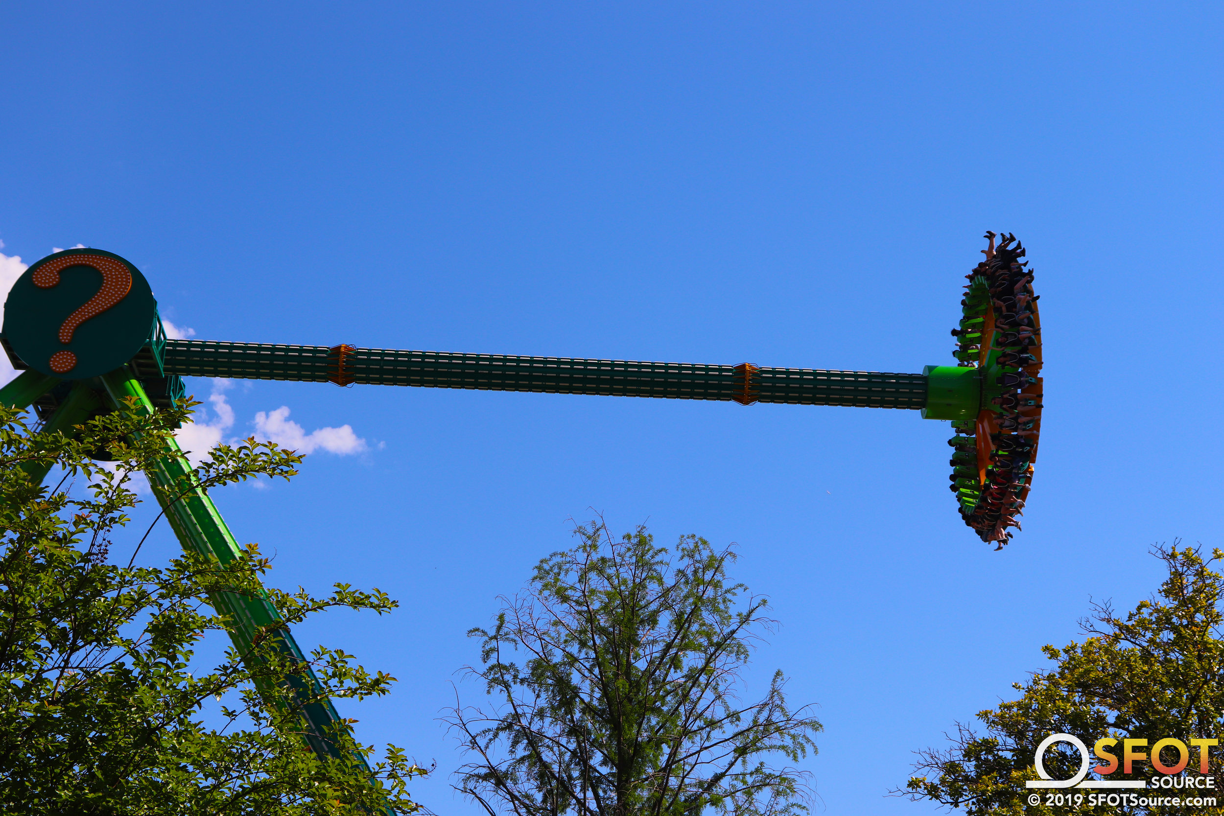 Riddler Revenge is one of the most intense flat rides found at the park.