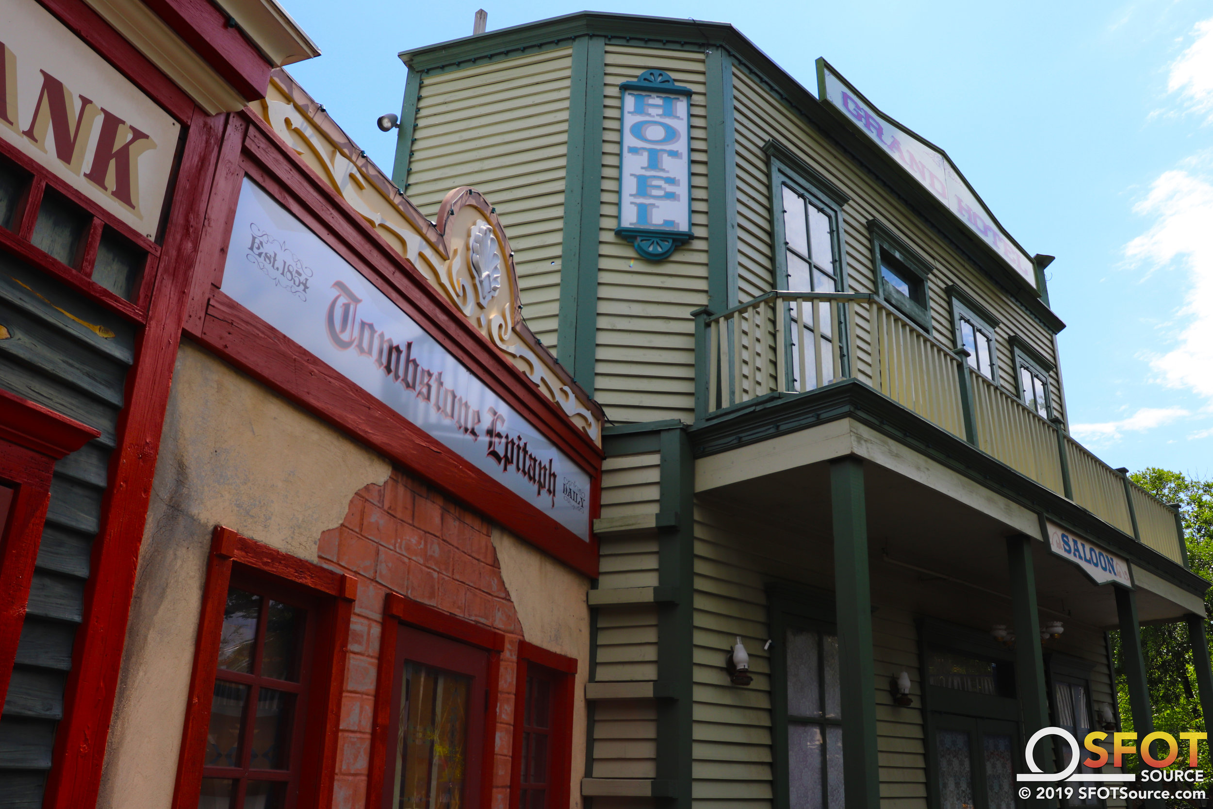 Guests experience western-themed facades all throughout the Texas section.