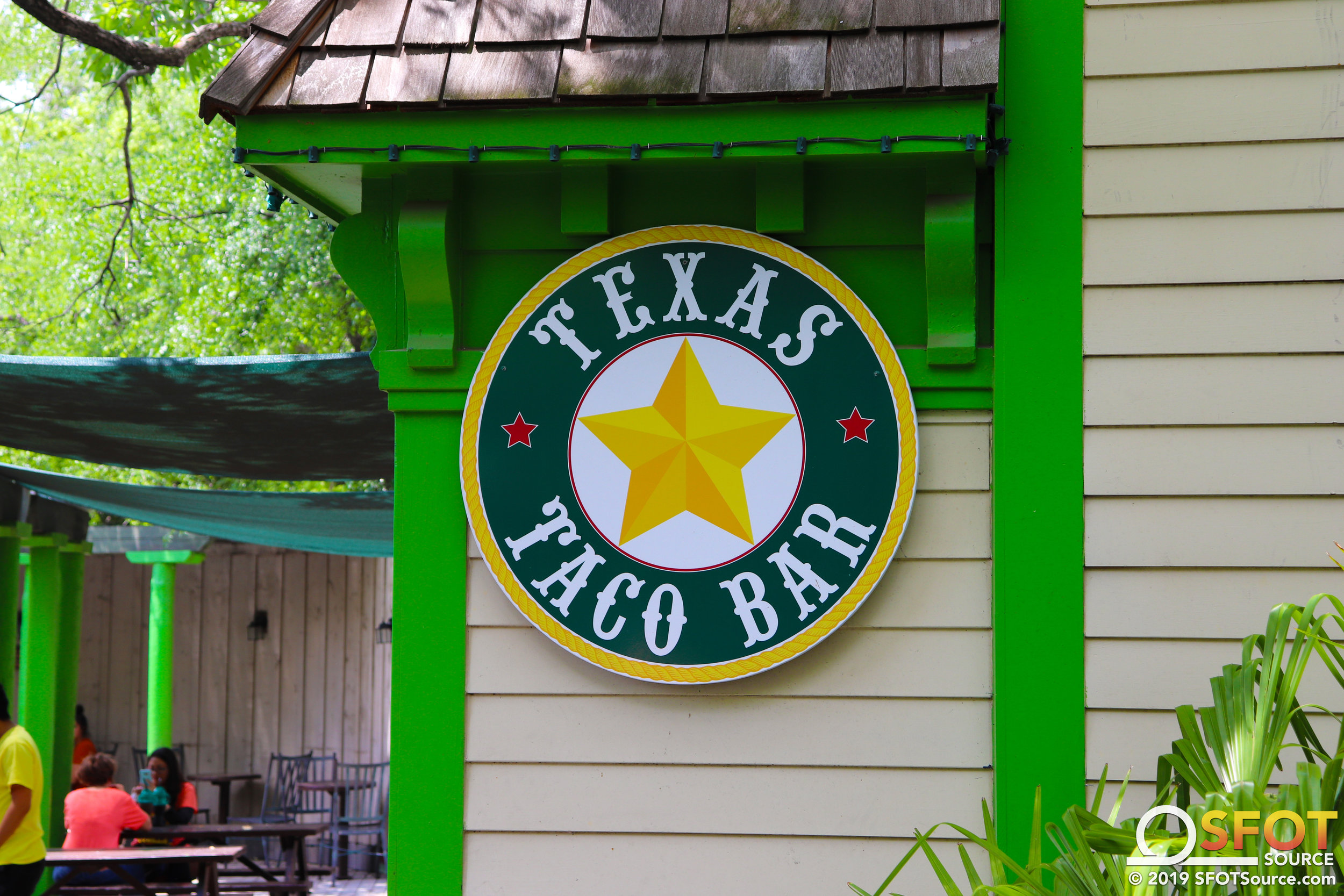 Texas Taco Bar is located in the park's Texas section.