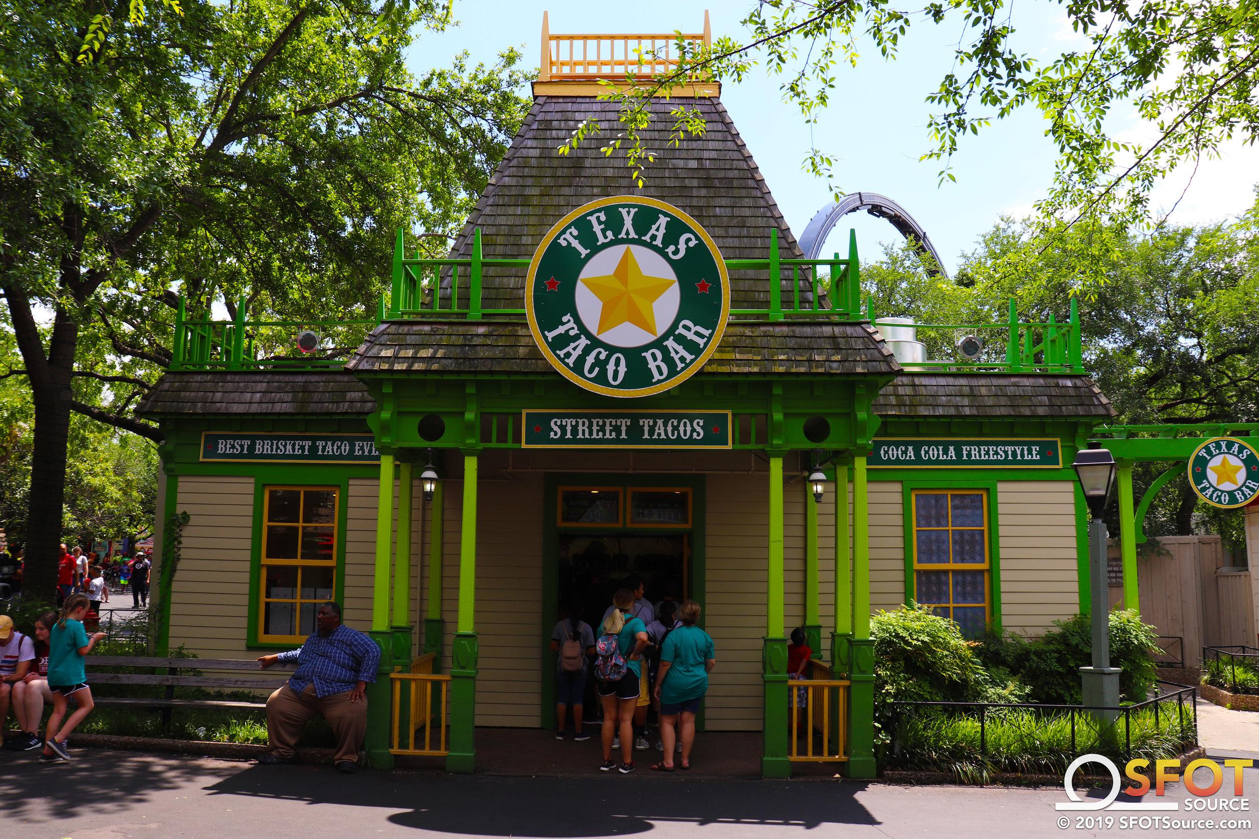 The main entrance to Texas Taco Bar.