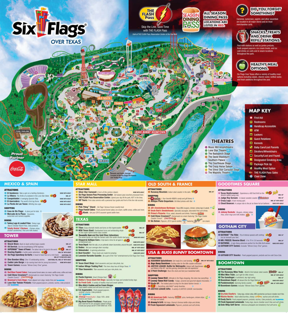 Past Park Maps | Six Flags Over Texas — SFOT Source Six Flags Road Map on cedar point map, disneyland map, dorney park map, geauga lake map, electric adventure map, amusement park map, hurricane harbor map, theme parks united states map, sesame place map, magic mountain map, universal studios map, great adventure map, great america map, cowboys stadium map, thorpe park map, great wolf lodge map, kingda ka map, legoland california map, kings dominion map, kings island map,