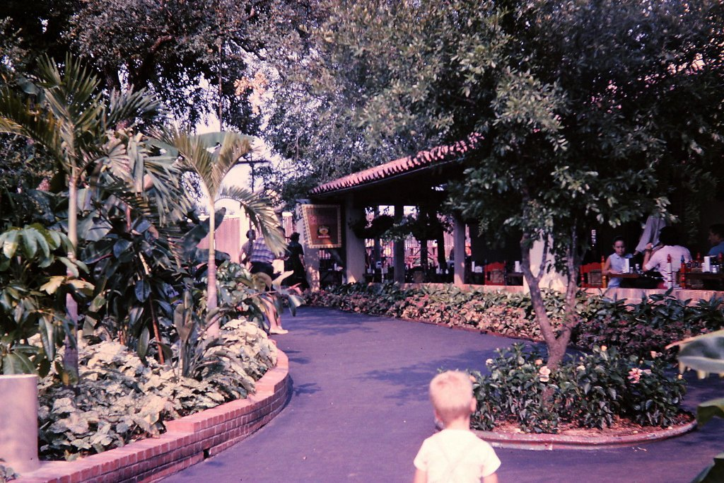 This 1965 image shows off the El Chico dining location found at Six Flags Over Texas.