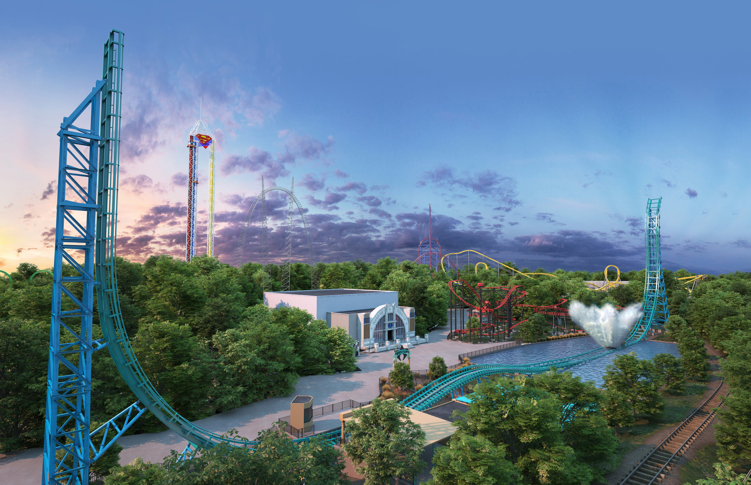 Aquaman: Power Wave is the first PowerSplash attraction in North America.