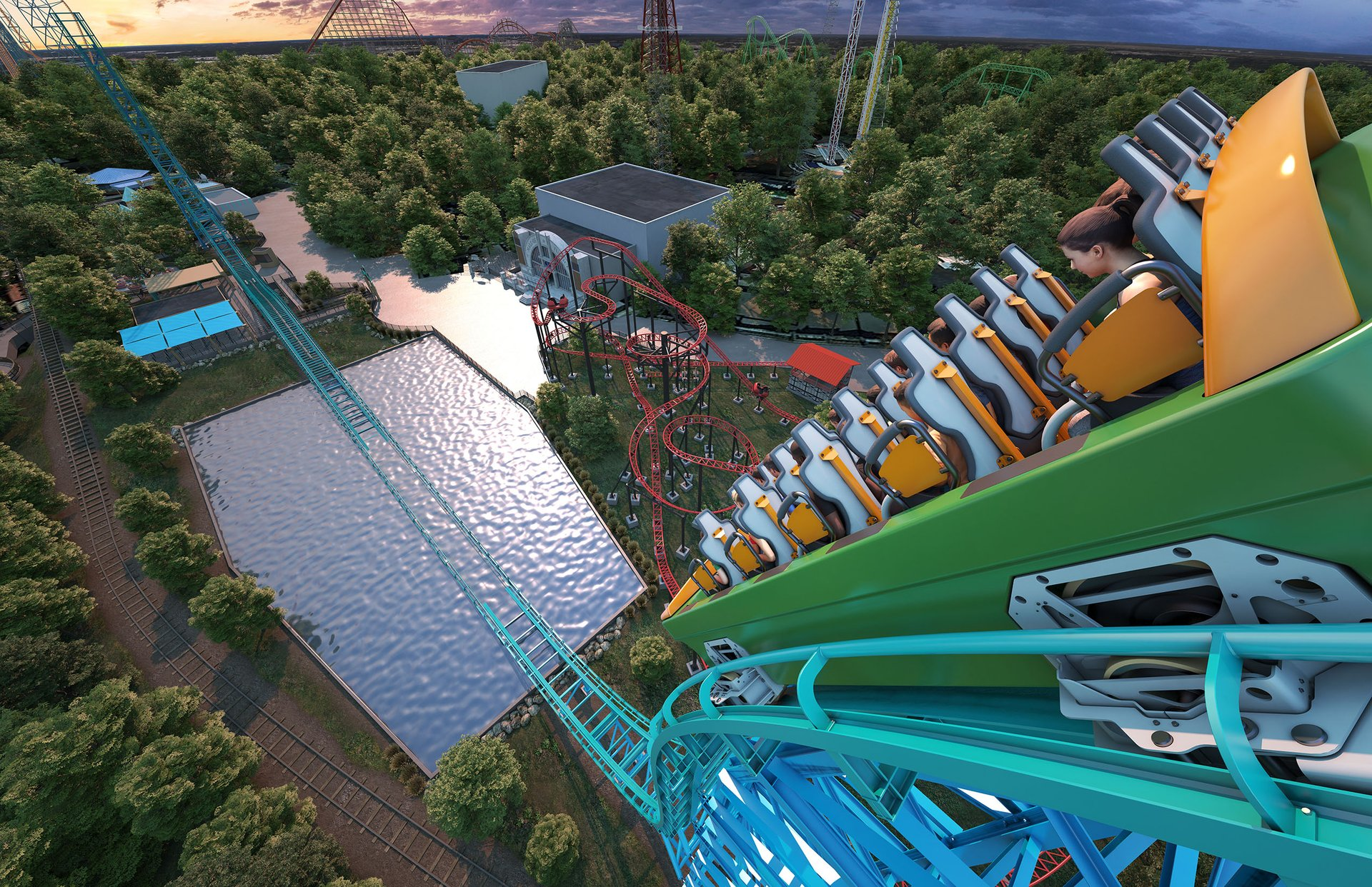 Guests will experience 90-degree drops during the ride cycle.