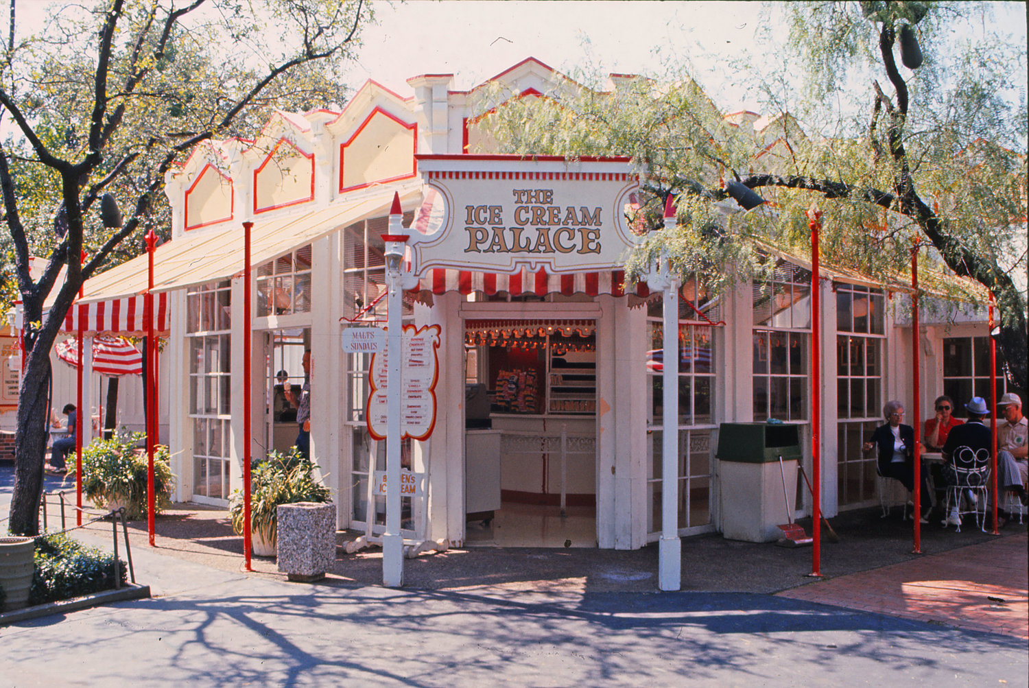 An early look at this location as The Ice Cream Palace.