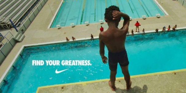 """Example: Ambush Marketing - Nike's 2012 London Olympics campaign, """"Find your Greatness"""""""