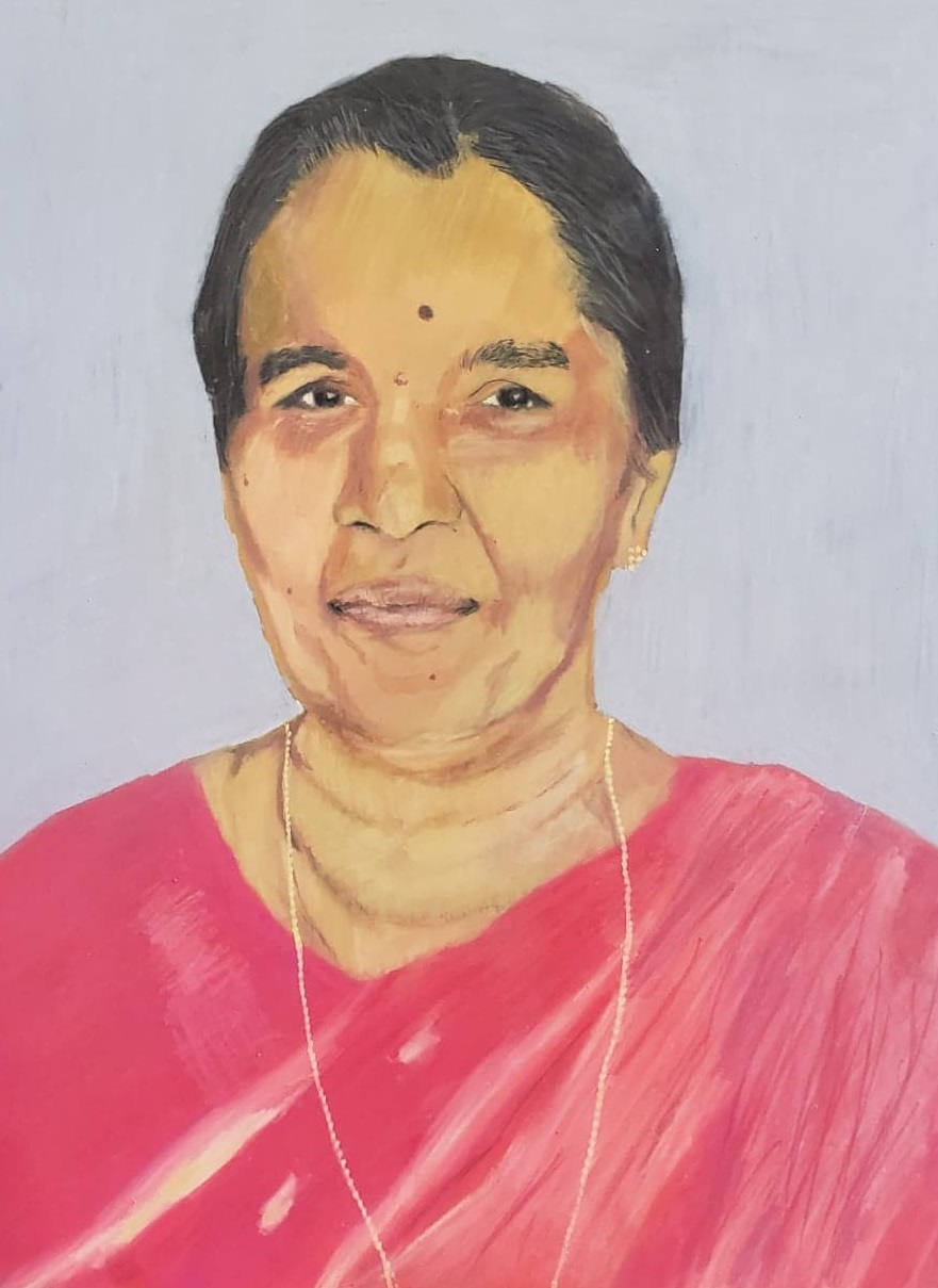 Issac Mathew's painting of his grandmother.