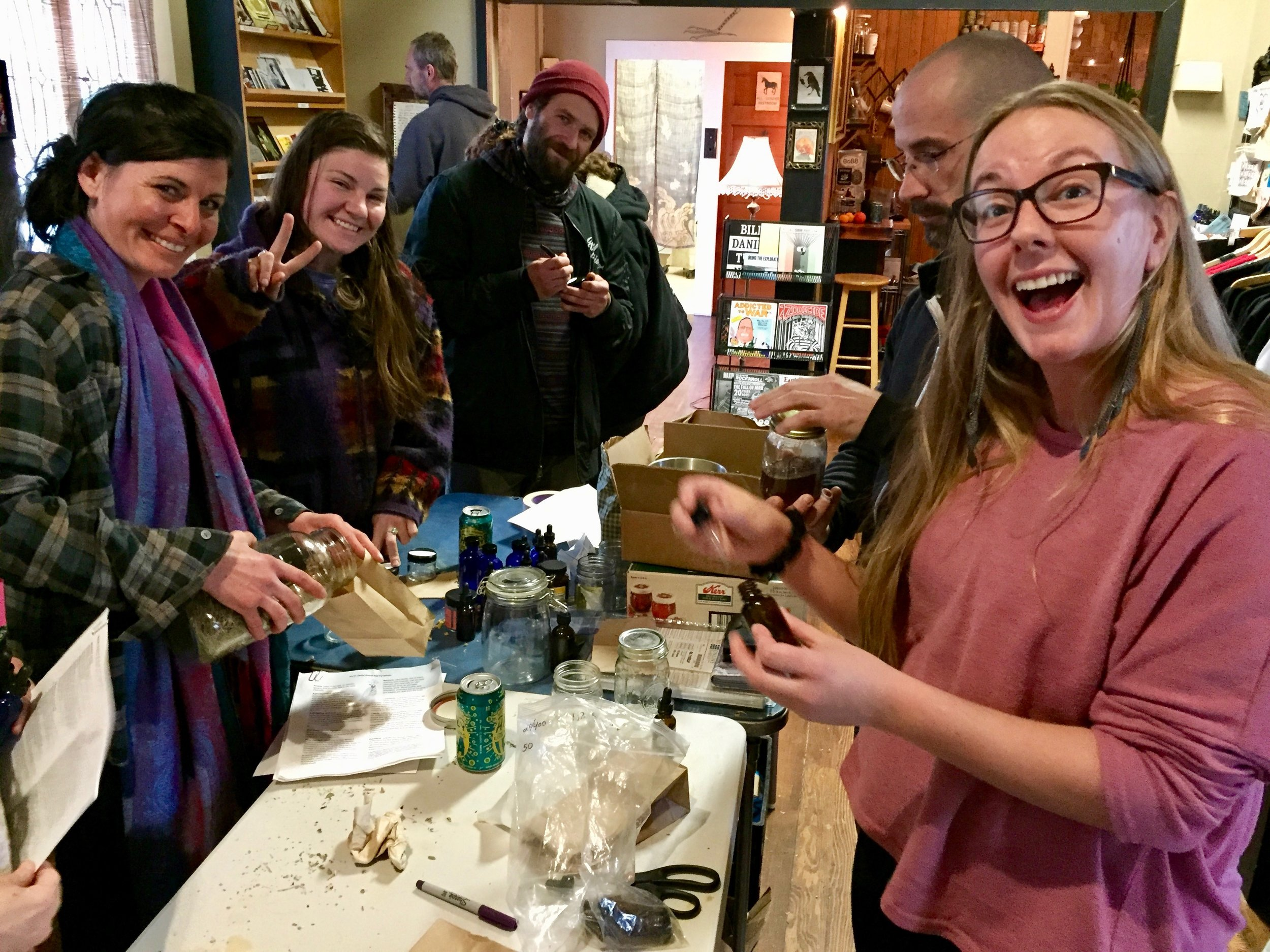Herbalists Supporting Herbalists Medicine Giveaway at Blackbird Chico. Source: Lily Rothrock