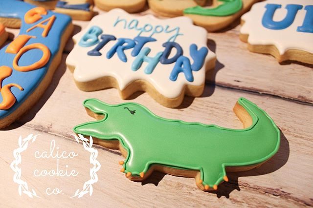 I'd like to call your attention to the alligator pedicure. #cookiesofinstagram . . . . . #instacookie #cookiedecorating #decoratedcookies #decoratedsugarcookies #sugarcookies #royalicing #royalicingcookies #cookieart #cookies #customcookies #wiltonbakes #americolor #annclarkcookiecutters #imsomartha  #bestofgainesville #whyilovegnv #gnvbakes #cookiesofflorida #floridacookiers #gainesvillecookies #graduationcookies #gatorcookies #ufcookies #bluewave #pkyonge #floridacookies #birthdaycookies
