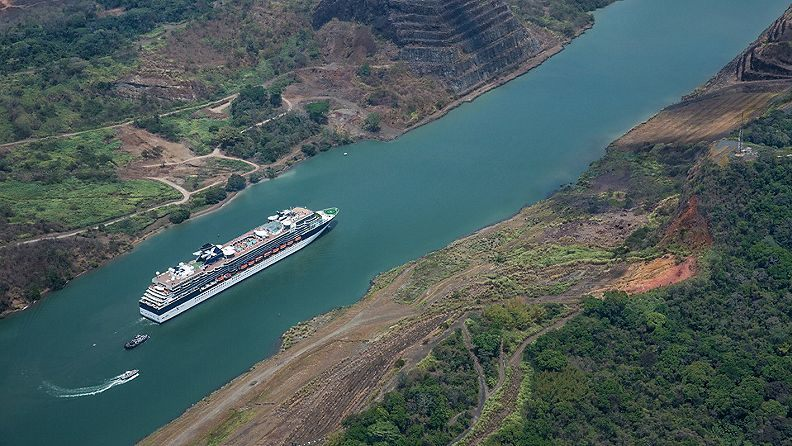 Celebrity Infinity sailing in the Panama Canal
