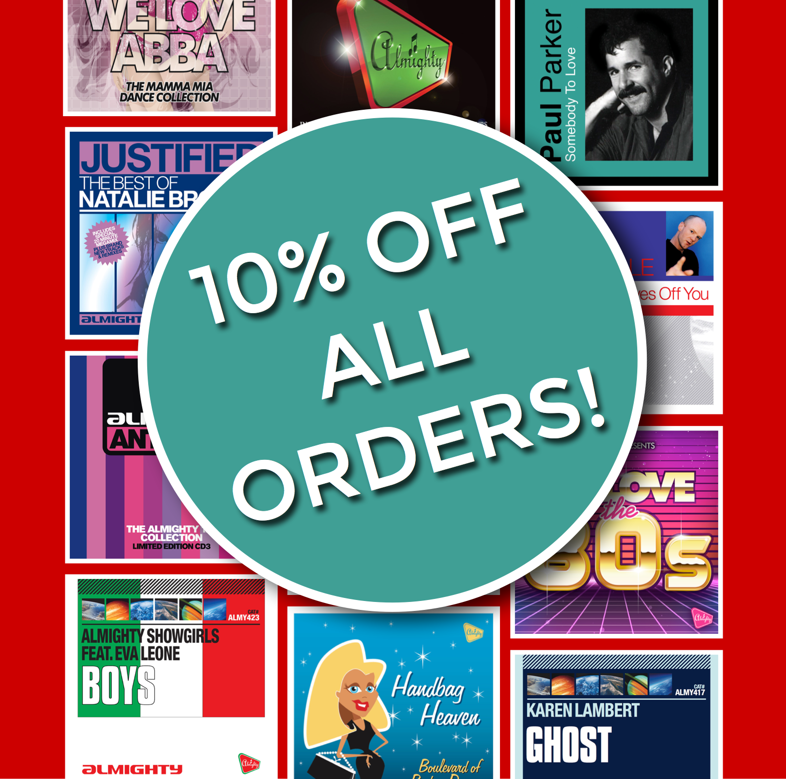 BANK HOLIDAY WEEKEND 10% DISCOUNT - Over this Bank Holiday weekend, we're giving 10% discount on ALL ORDERS from our website, with NO MINIMUM SPEND!Including both physical and digital products, enter the promo code: BANKHOLIDAY at the checkout for 10% to be deducted from your order!Offer is applicable from 00:00 Friday 24th May 2019 and runs until 23:59 on Monday 27th May 2019. Discount can only be redeemed during this time. Discount code must be entered at the checkout at the time of placing the order and cannot be redeemed afterwards. If you have any problems using the code, please email us at info@almightyrecords.com so one of the team can help.