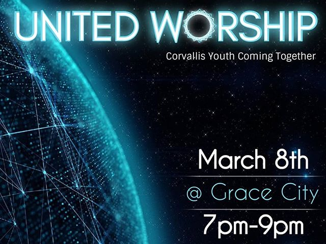 Two weeks from now, churches across Corvallis are teaming up for an all-youth worship night! We get to host @ Grace City on 9th and Washington, and our worship team will provide the music! Come connect with people your age all around the city as we praise God! #cityhighcorvallis #gracecitycorvallis