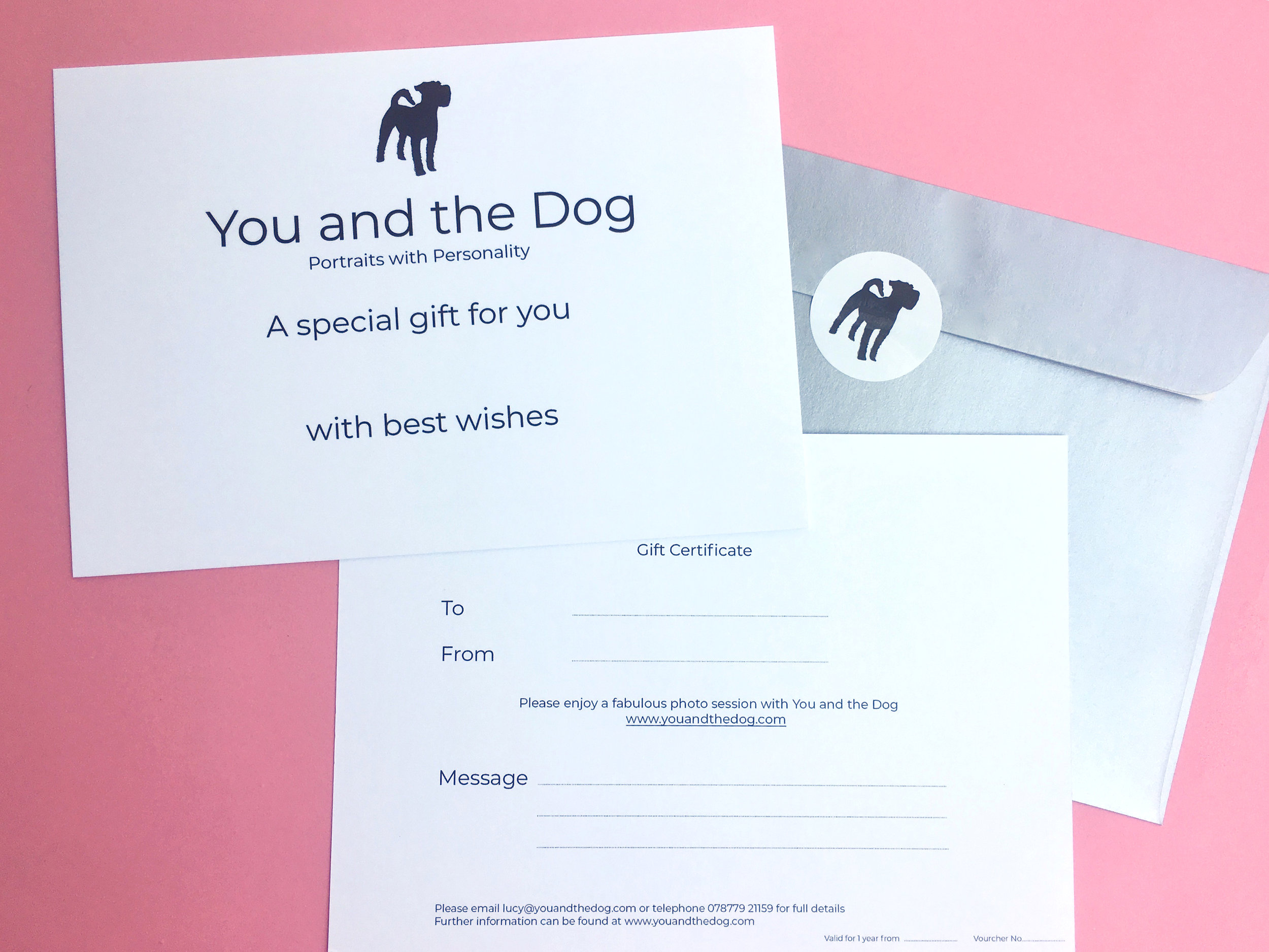 Gift vouchers - Why not treat the dog lover in your life to a studio session for their dog? Gift vouchers make an ideal present.