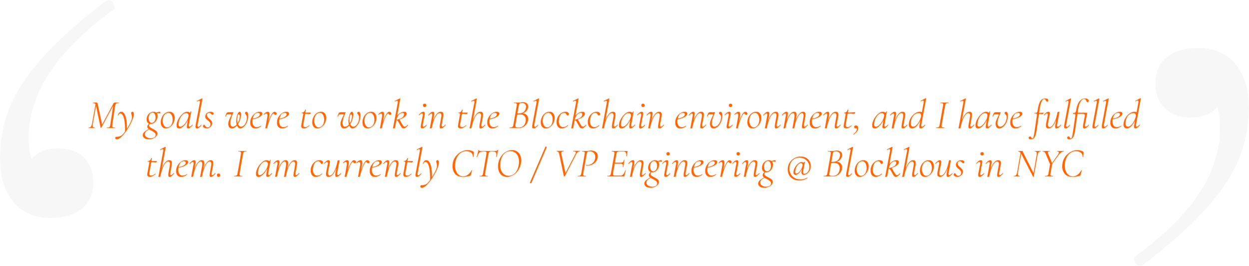 Stephane , Blockchain Technical Bootcamp Graduate, now Blockchain Startup CTO