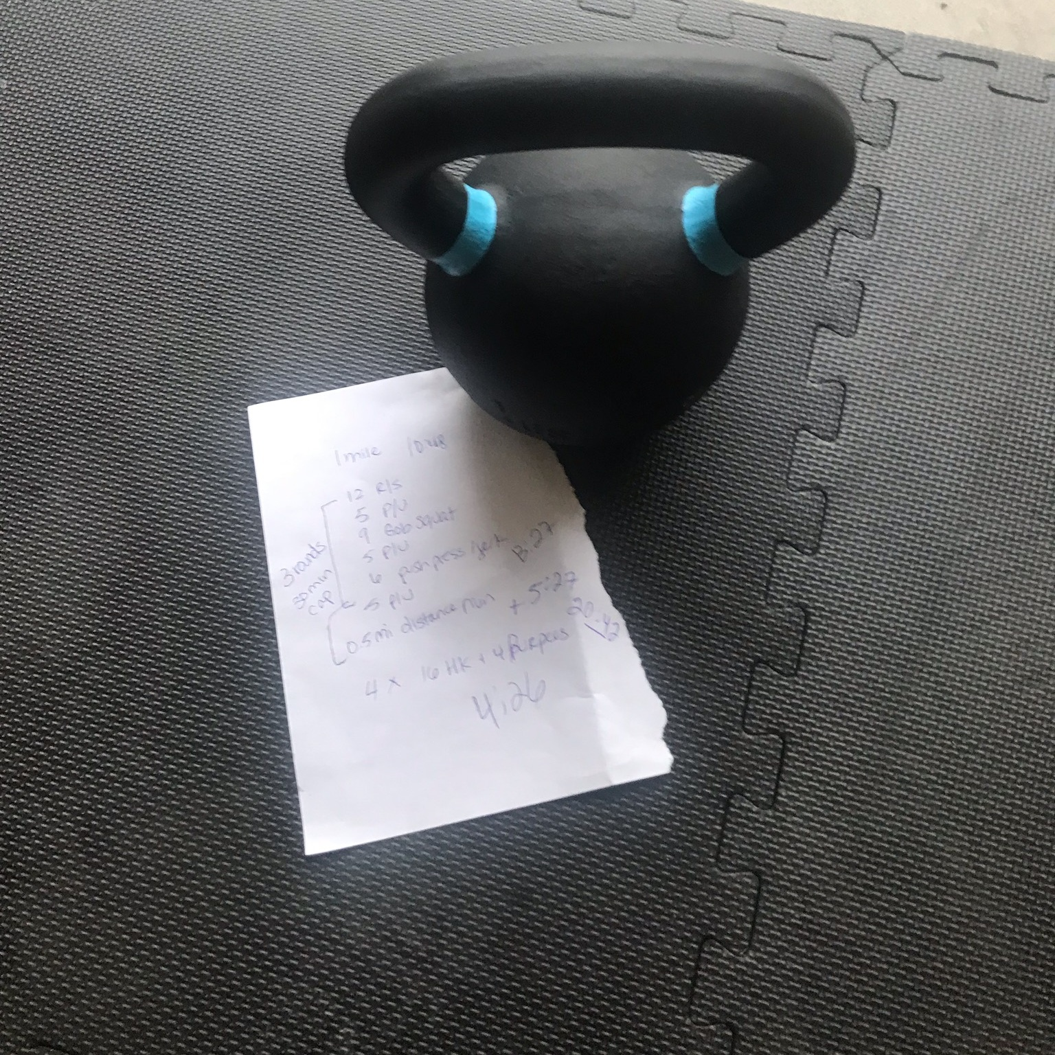 Sunda home gym workout notes