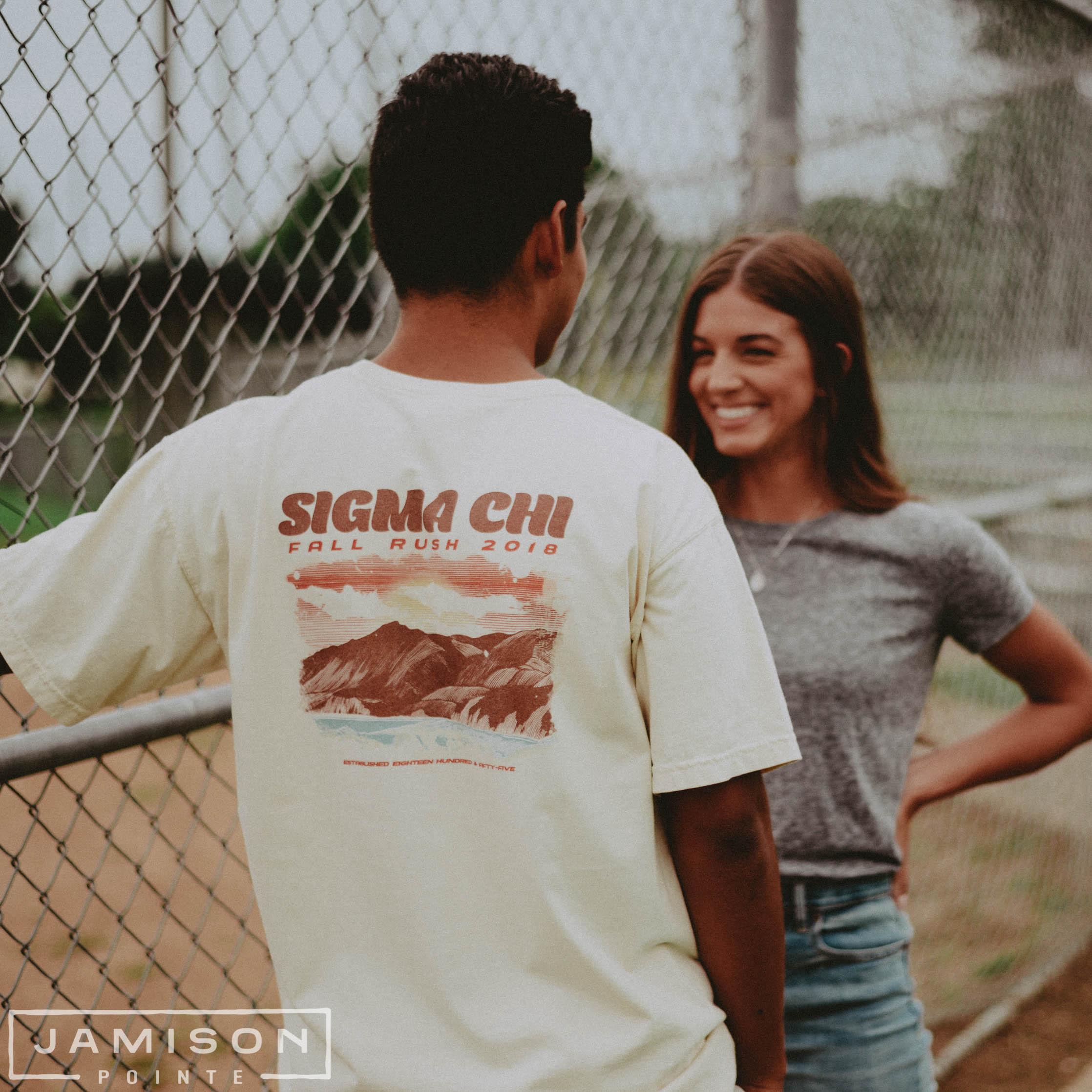Sigma Chi Scenic Fall Rush Tee