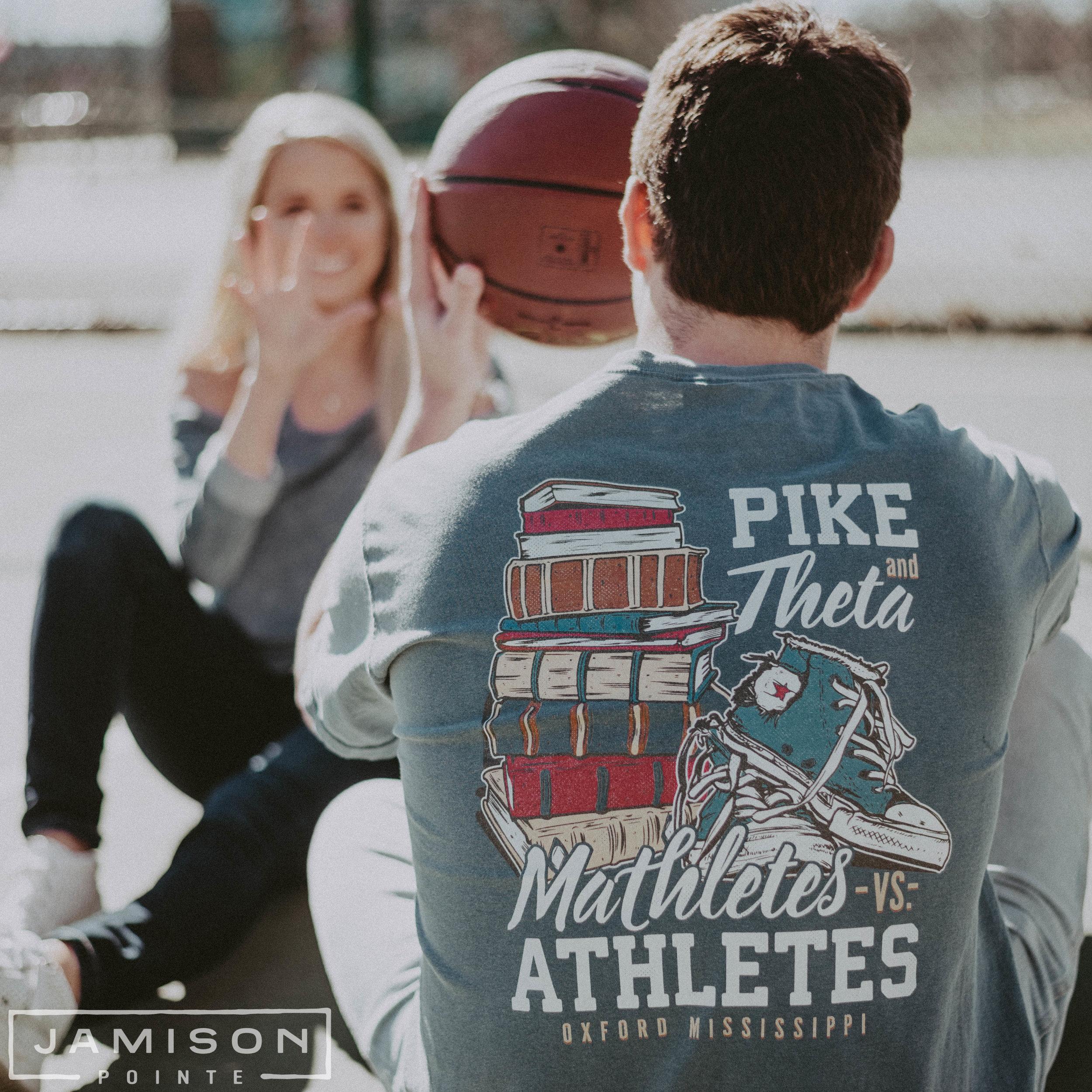 Pike Mathletes Vs. Athletes Tshirt