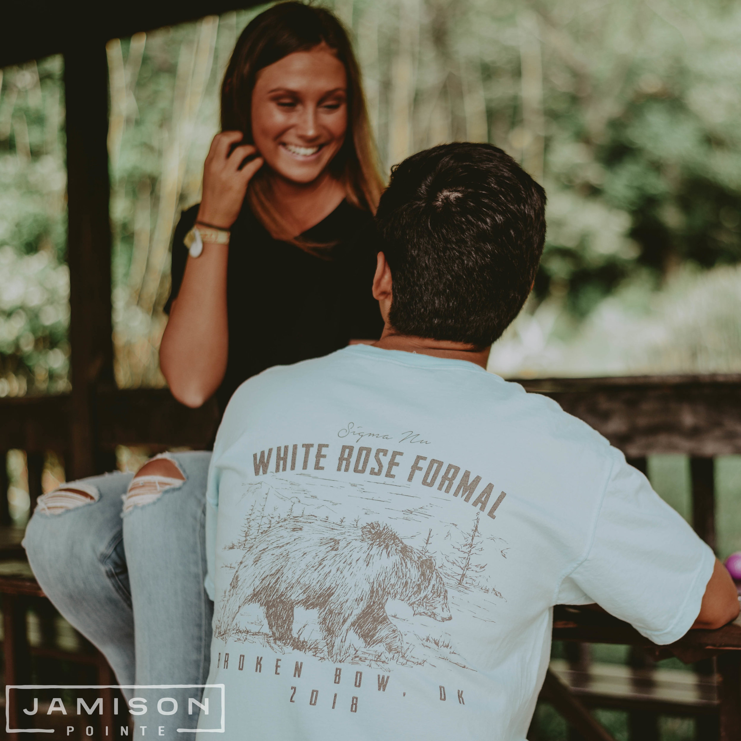 Sigma Nu White Rose Formal Tshirt