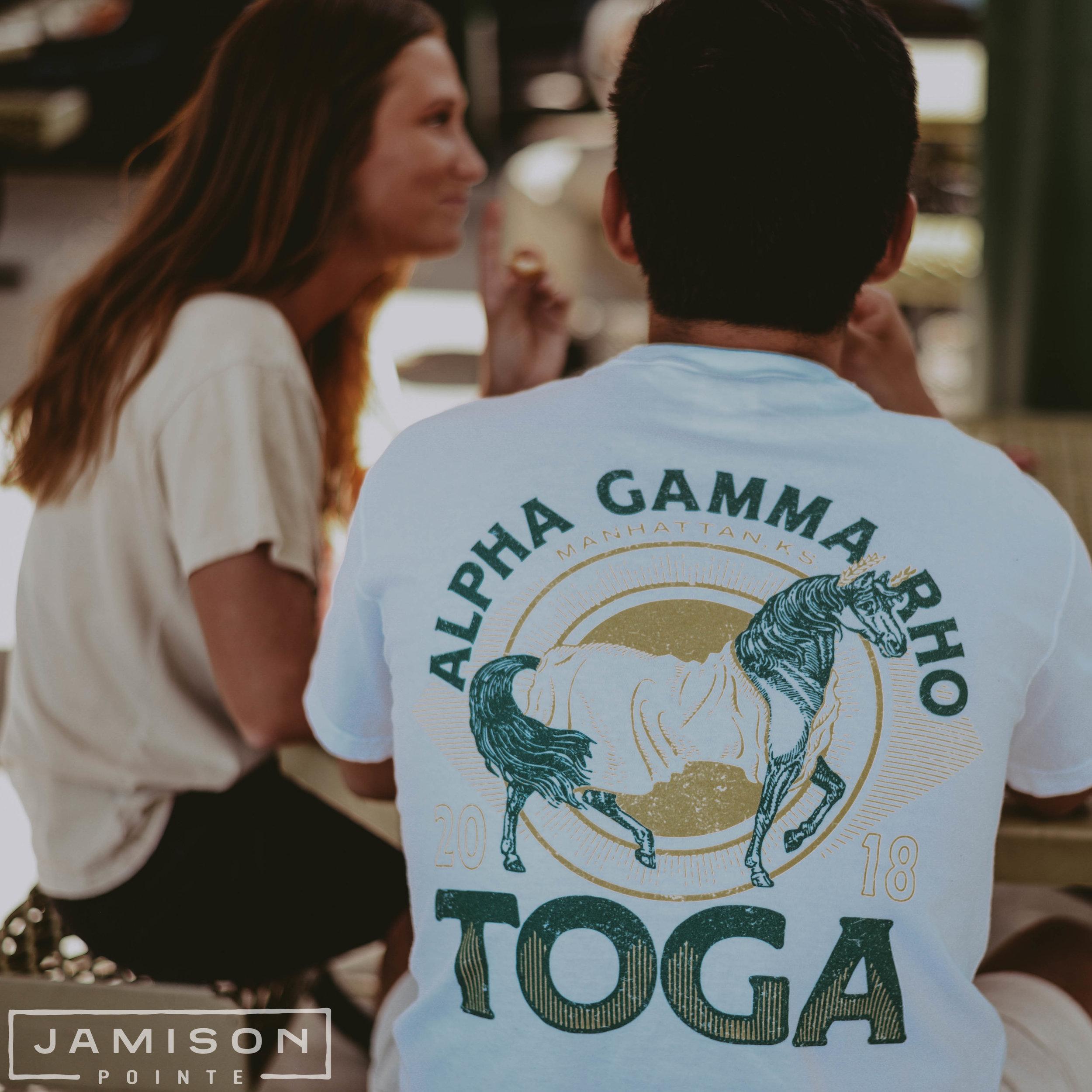 Alpha Gamma Rho Toga Function Tee