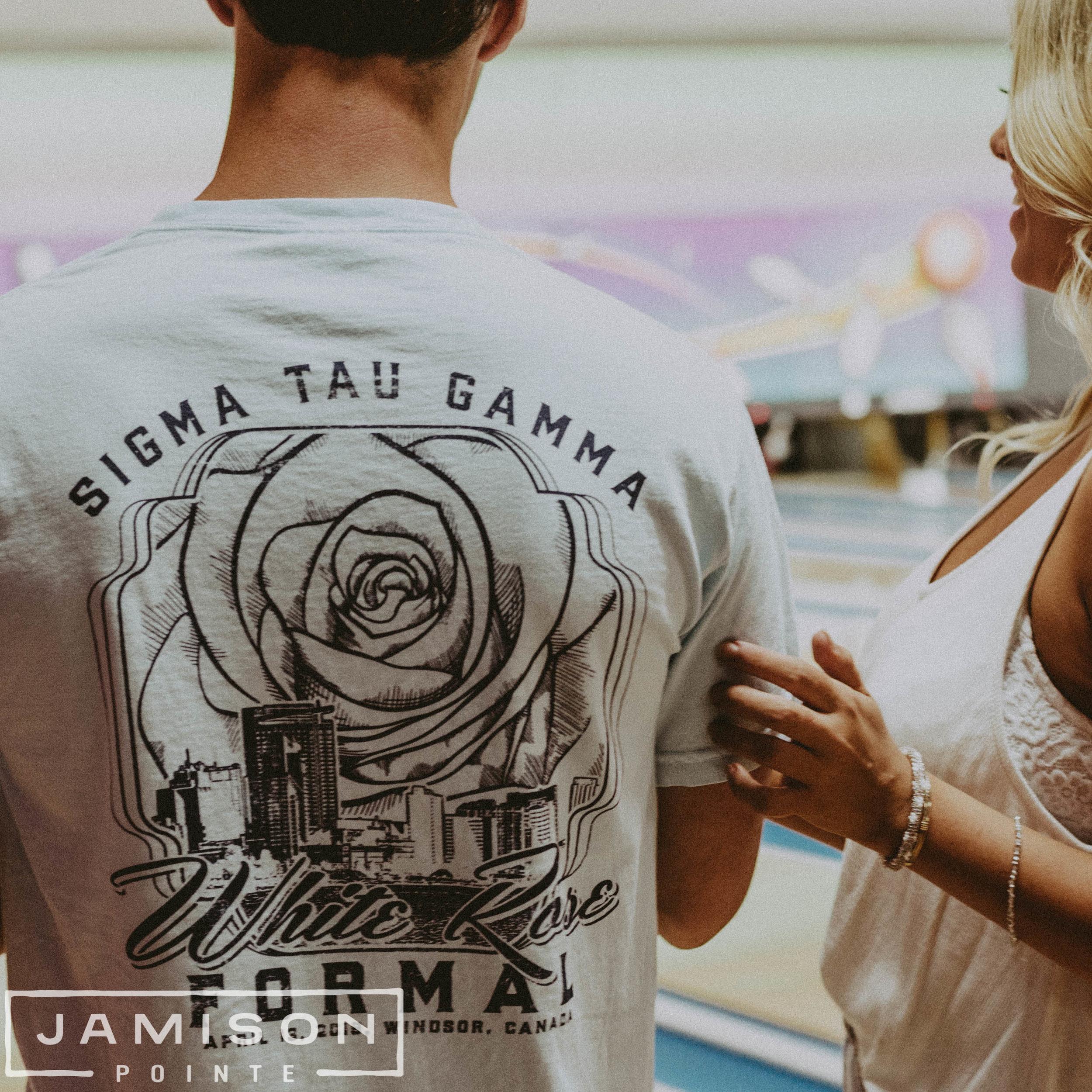 Sigma Tau Gamma White Rose Formal Tee