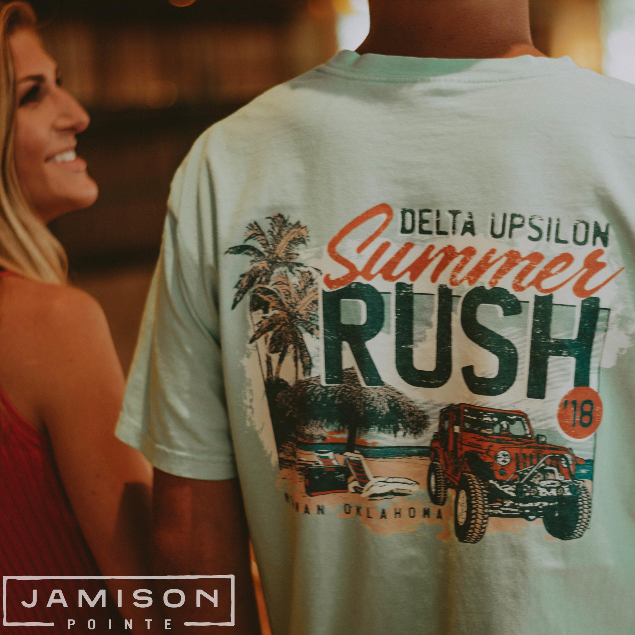 Delta Upsilon Summer Rush T-shirt
