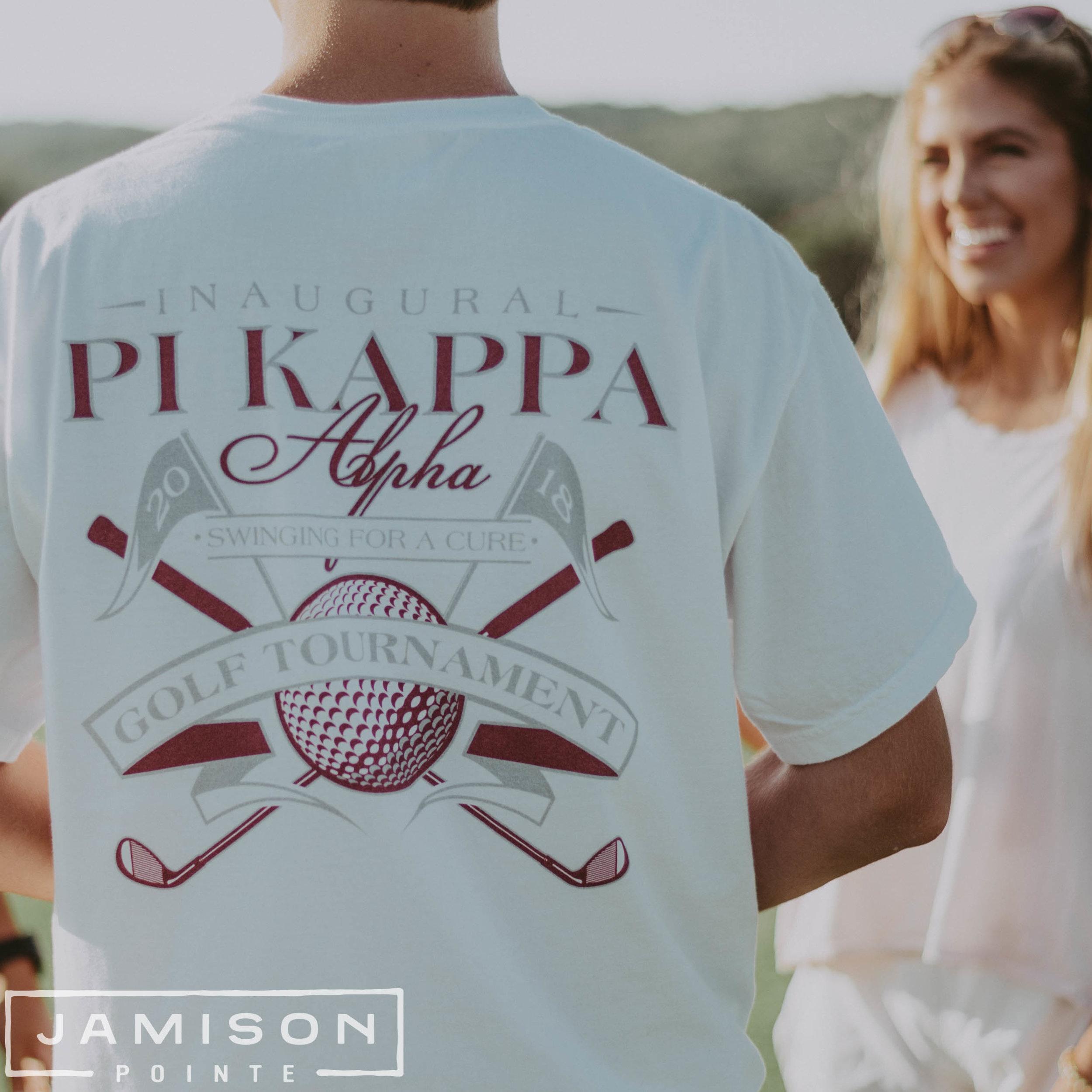 Pi Kappa Alpha Golf Tournament Tshirt