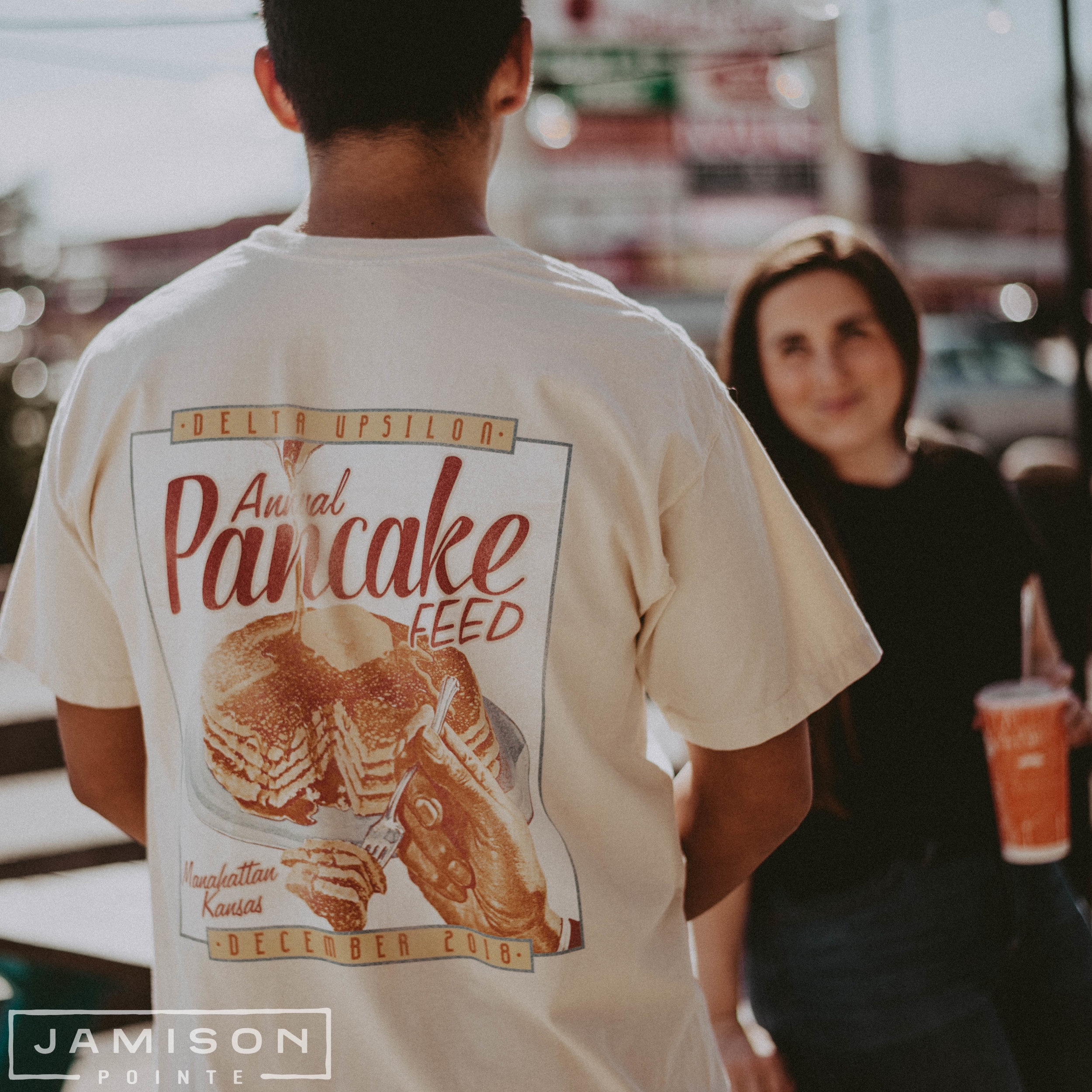 Delta Upsilon Pancake Philanthropy Tshirt