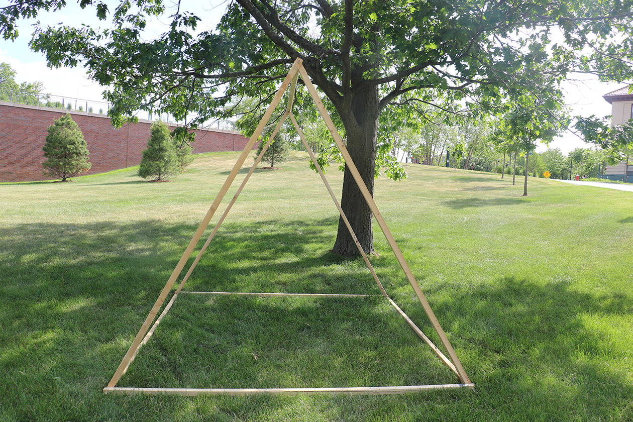 8x8x7' wooden frame for tent proposals