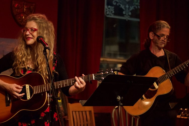 Isabel and Noah Zacharin (Isabel and the Uncommon Trio) at The Tranzac. Photo by Yuske Frutate