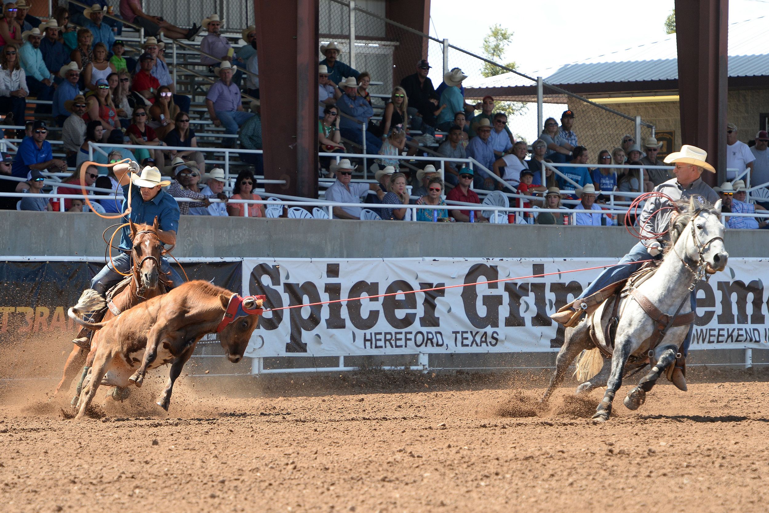 2017 SG Pro Am Team Roping - Amateur Header - Action 1 - Johnny Trotter & Kollin VonAhn.jpg