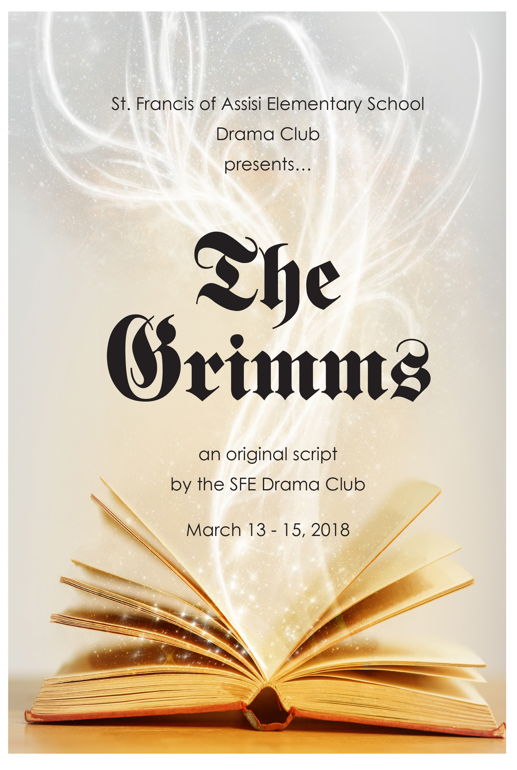 School Drama Club Poster for Print & Online Communication