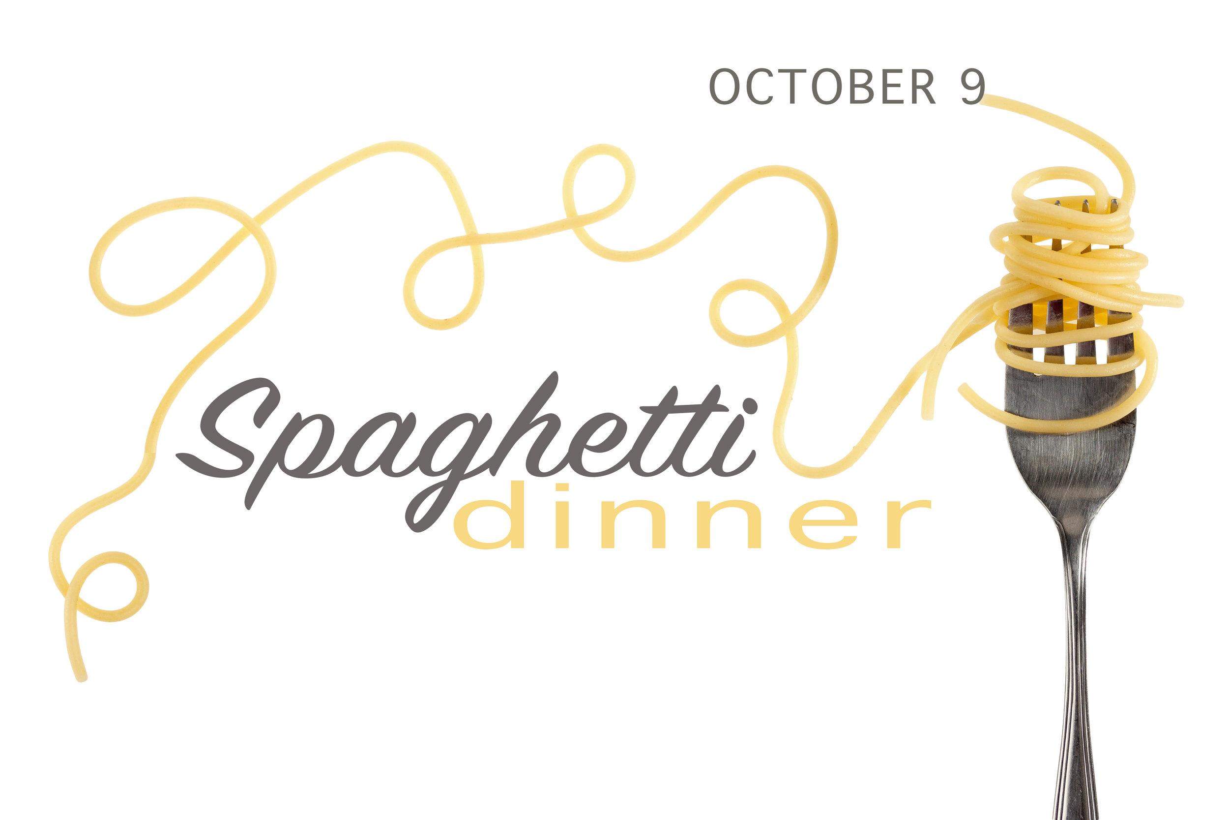 Spaghetti Dinner Fundraising Event Logo