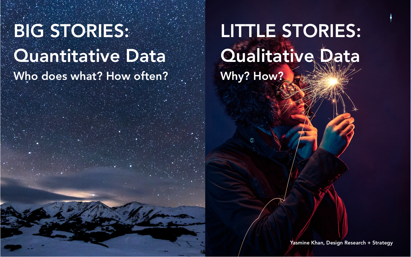 Big + Little Stories:    Qual + Quant DataWorking Together -
