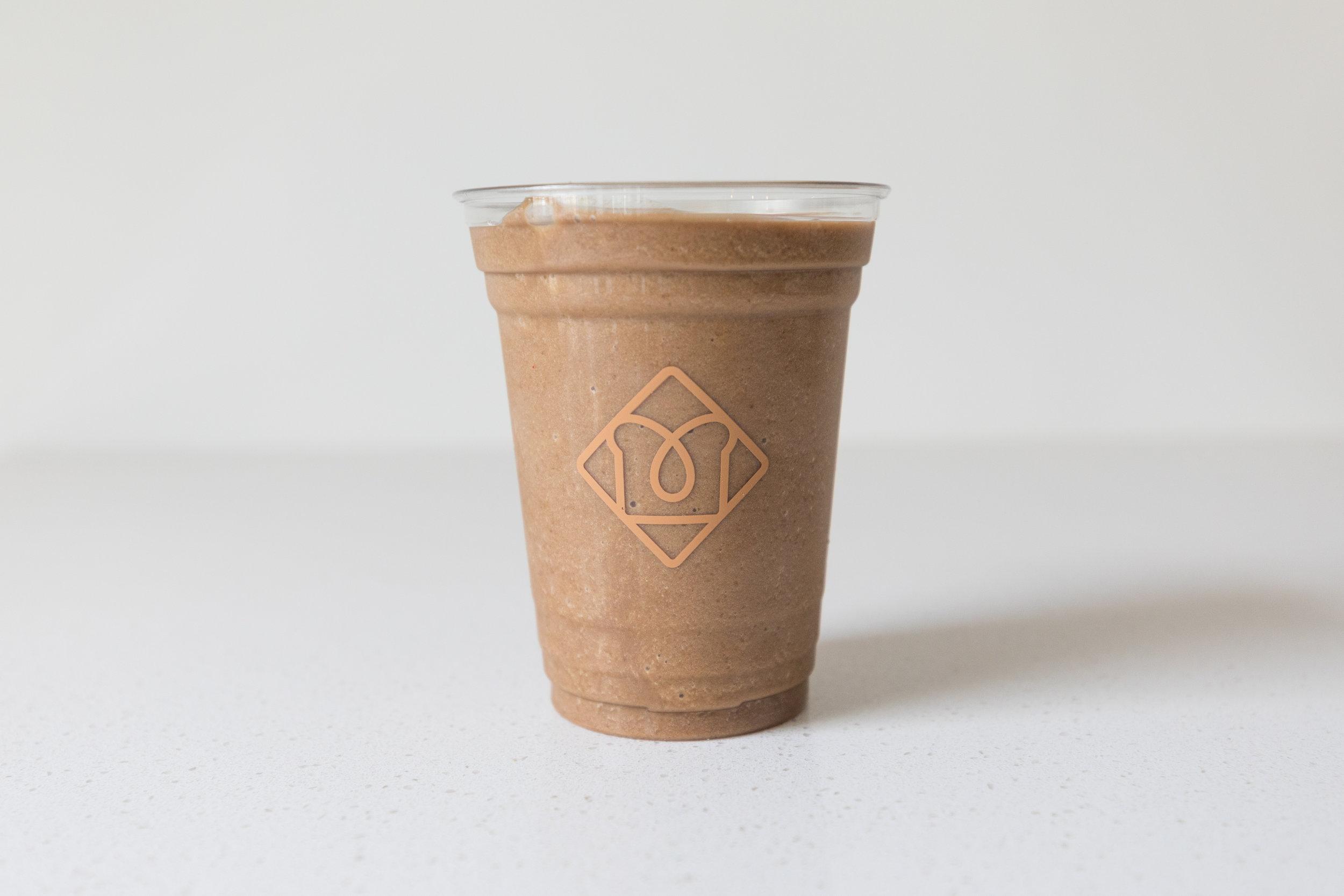 Iced Brew:  Coffee / Banana / Dates / Almond Milk