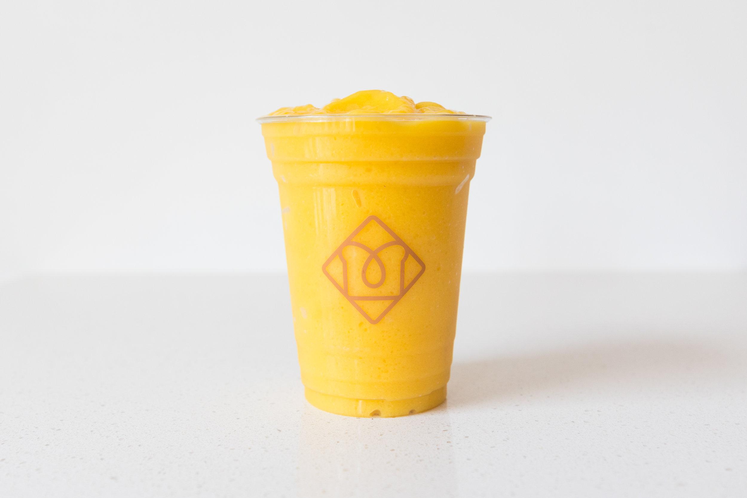 Orange Crush:   Orange / Mango / Lime / Agave / Almond Milk