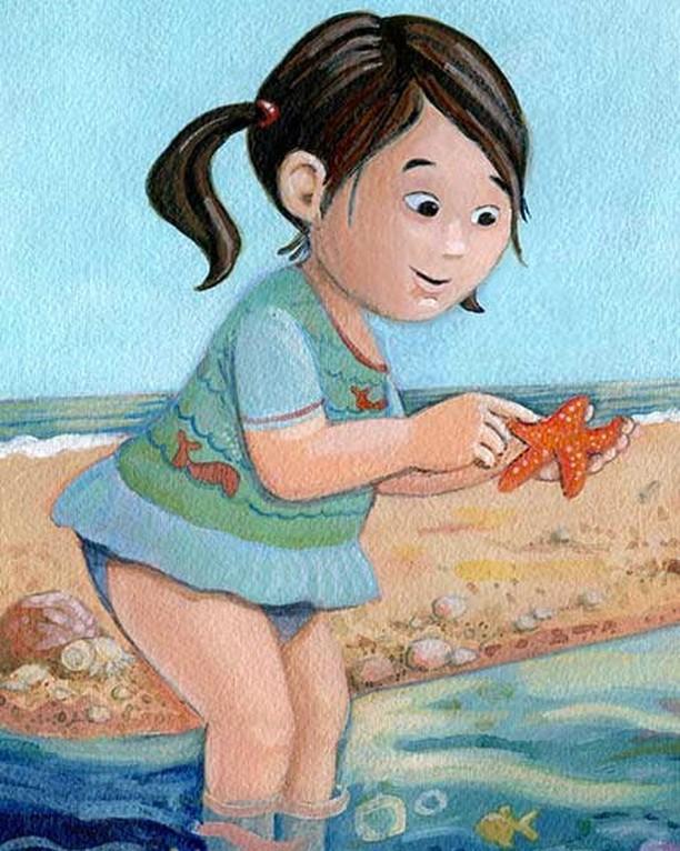 New painting! #artistoninstagram #kidlitart #beach #aliciaschwab