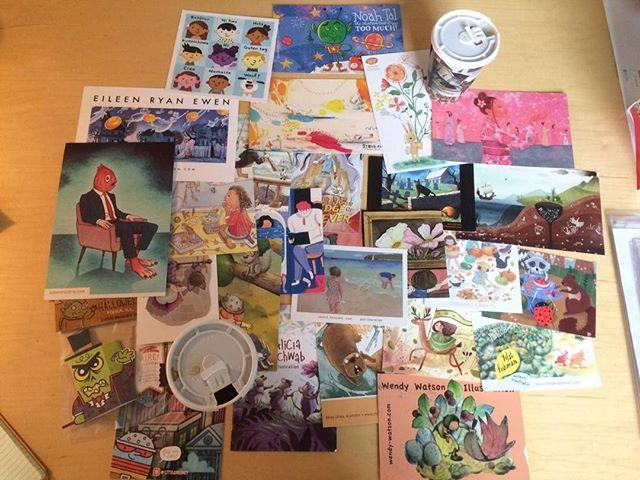 #mailersandcoffee picked my postcard out of the slush pile thx, @pinocastellano & @oliviakane27!