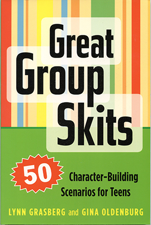 Great Group Skits - By Lynn Grasberg and Gina OldenburgIllustrator: Alicia Schwab| From: Search Institute PressAges: Young Adult | ISBN 1-57482-265-9Want to get students excited and involved in your classroom or program—and teach valuable life lessons at the same time? Great Group Skits is a surefire way to get your cast of characters out of their routine and into the exciting world of improv.Buy this book! Amazon | IndieBound | Barnes and Noble