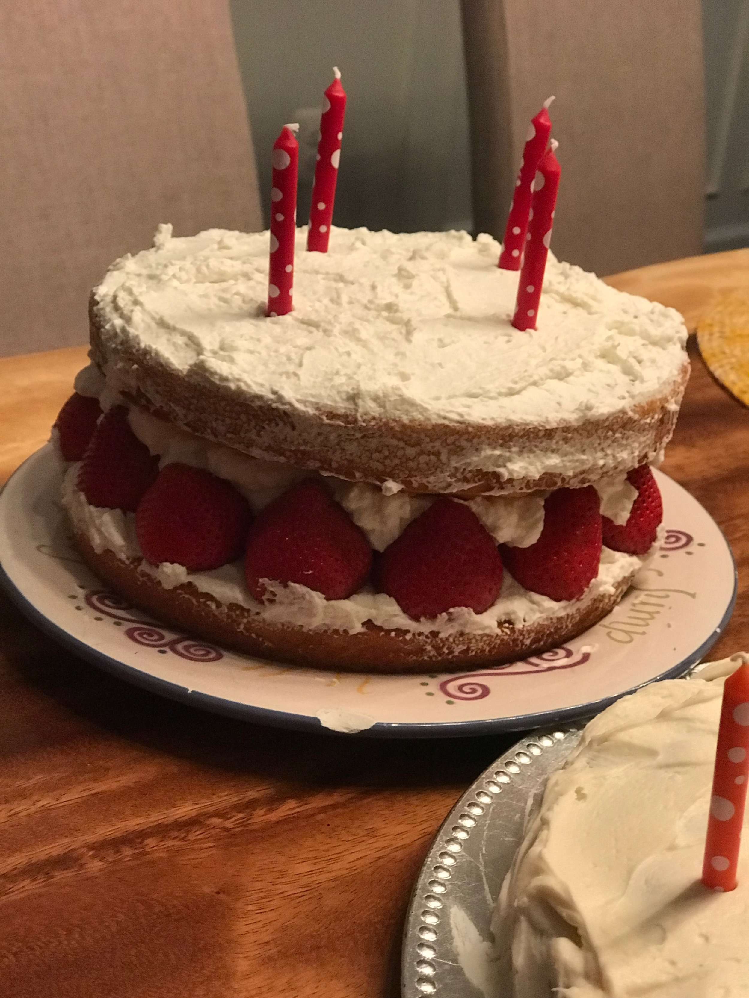 Birthday cake made my niece night before Jammin Java.jpeg